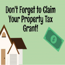 Don't Forget to Claim your Property Tax Grant!