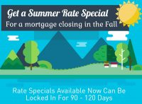 Get a Summer Special rate for a mortgage closing in the Fall before it's too late!